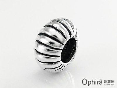 Ophira歐菲拉銀飾~SP4~154~Charm潘朵拉寶盒~復古圓滾輪925純銀墜子 手鍊項鍊用beads