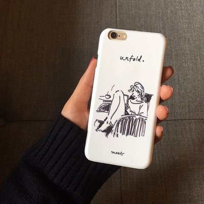 盛美小店~IAMSHOP新品自制韓國unfold網紅同款簡約iphone6plus7plus8手機殼