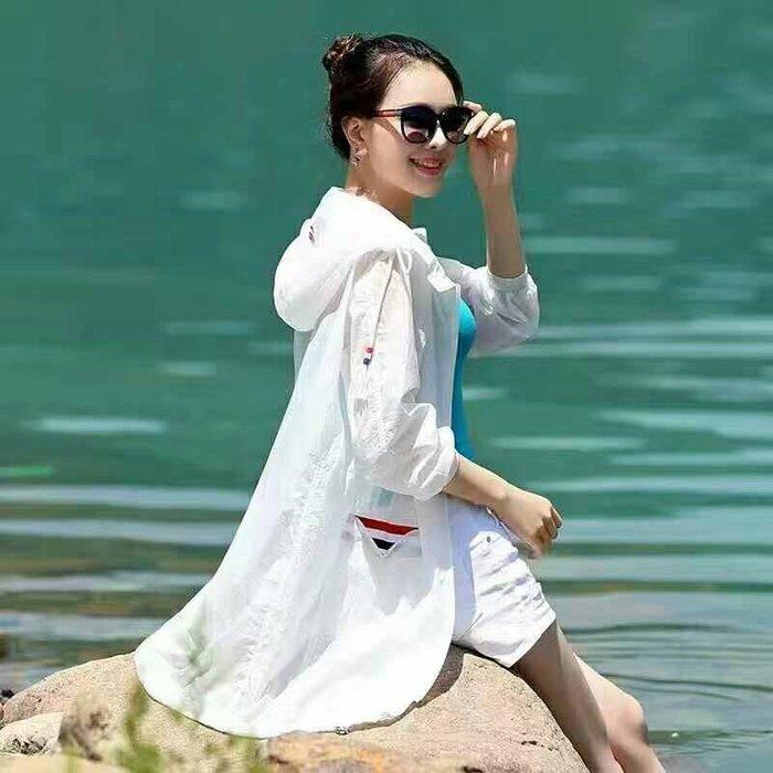 天絲防曬外套防曬衣高透氣抗UV涼感顯瘦長版款~JIFU 鉅釜 W083  桃紅、螢光綠、淺