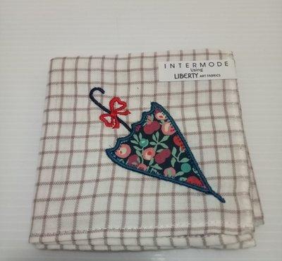 日本 方格小花傘 手帕 Intermode Using Liberty Art Fabrics ( 43*43 cm )
