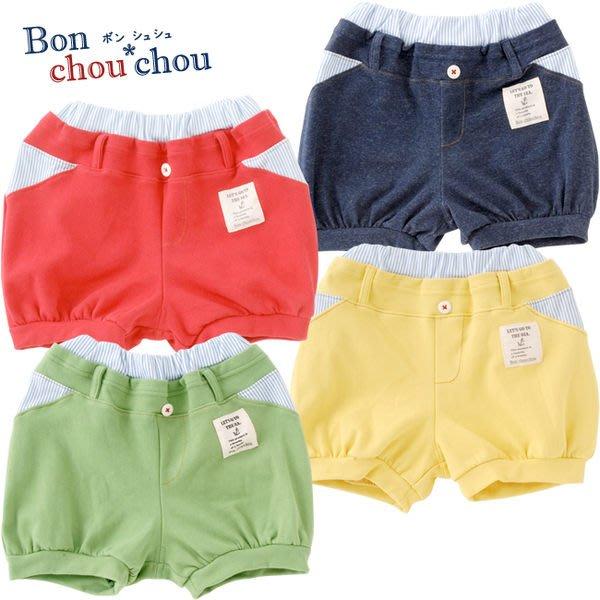 *Dou Dou House* 日本進口【Bon Chou Chou】童裝/短褲-綠色-Size:80cm