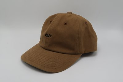 OBEY JUMBLE BAR 6 PANEL 卡其色 滑板老牌 老帽 6分割