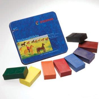 【Stockmar史督曼】蜂蜜蠟磚 8色 *德國華德福產品 鐵盒包裝*