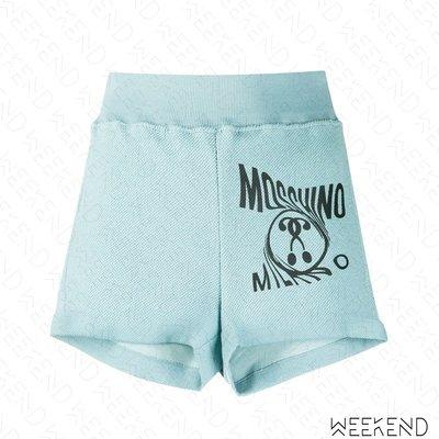 【WEEKEND】 MOSCHINO Milano Question Mark 問號 短褲 棉褲 藍色 20春夏