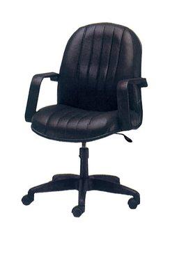 【南洋風休閒傢俱】辦公家具系列-黑皮氣壓有手辦公椅 辦公書桌椅 (金633-5)