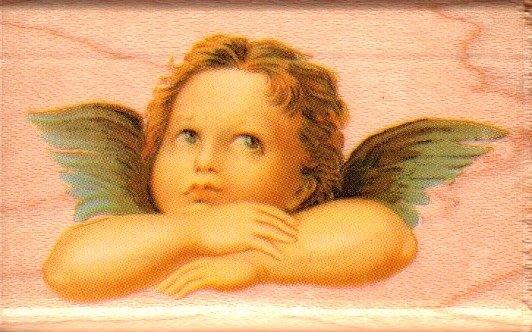 陽光一品DIY卡片印章專賣店~~RS木頭印章~ 天使-4--##289D##~~美國製絕版品