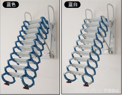 壁掛閣樓伸縮樓梯室內室外家用復式平台拉伸折疊隱形升降梯子