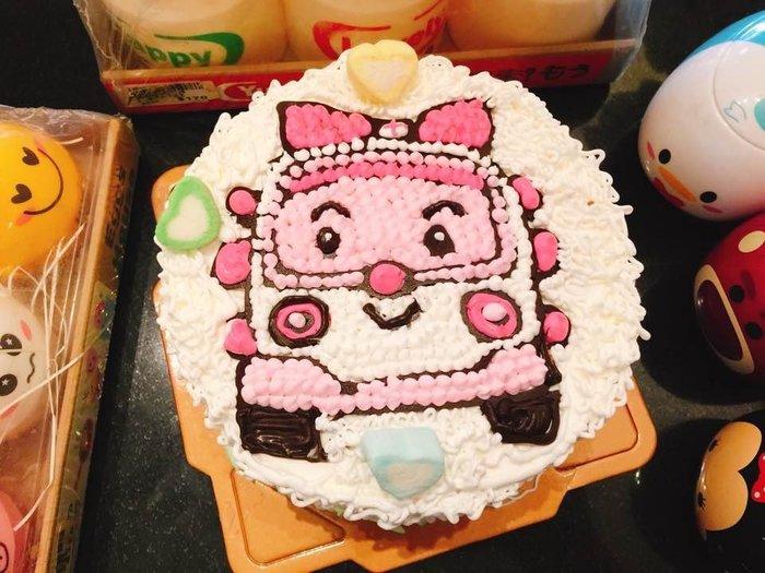 ❤ 歡迎自取 ❤ 雪屋麵包坊 ❥ 車車款式 ❥ 安寶卡通車車 ❥ 6吋生日蛋糕 ❥送彩色蠟燭唷