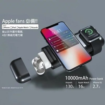 蘋果設備專用 4合1 行動電源 | AirAlly ($598)