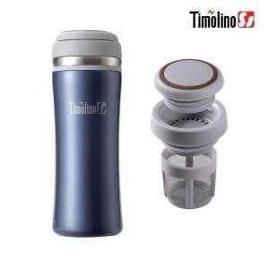 Timolino 隨身杯350ml (寶格藍)(不鏽鋼保溫杯/ 不銹鋼杯/ 隨手杯/ 環保杯) 【茶濾網設計】