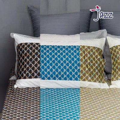 《40支紗》美式信封枕套二入【共3色】Jazz 100%精梳棉-麗塔寢飾-