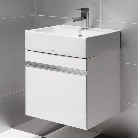《101衛浴精品》TOTO L710CGUR 時尚白結晶鋼烤 面盆浴櫃組 TO-710W【全台大都會免運費 可貨到付款】