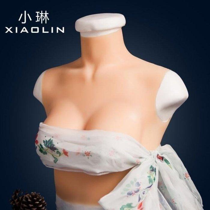 四代義乳cos假胸男用CD變裝偽娘用品硅膠假乳房男士變女胸墊AMXP