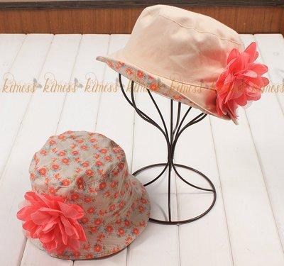 棉質 兒童花朵雙面帽 小碎花遮陽帽淑女...