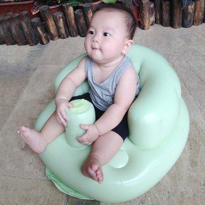 安全靠椅寶寶充氣沙發嬰兒多功能學坐椅兒童餐椅便攜安全浴凳—莎芭