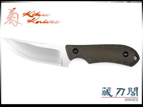 《藏刀閣》松田菊男-(KM-955A)RACCON SPGII-(狸)大馬士革鋼剝皮小獵刀