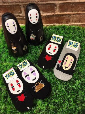 韓國空運 無臉男襪子 女襪 男襪 可愛流行時尚 正韓 短襪 宮崎駿 神隱少女 腳踝造型襪 運動襪
