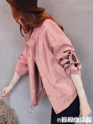 外套女春秋2019新款韓版復古港味粉色刺繡短款棒球服外衣潮qqshg