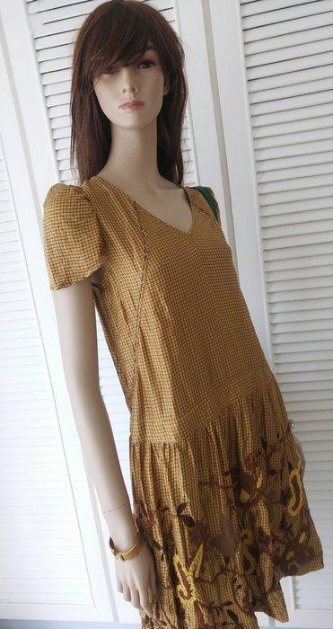 溫慶珠刺繡純蠶絲洋裝