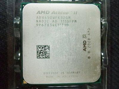 AMD Athlon II X3 450 3.2G ADX450WFK32GM 95W 包開四核散片 CPU 一年保