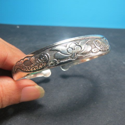 【競標網】高貴時尚西藏藏銀(如魚得水)造型手鍊(回饋價便宜賣)限量5組(賣完恢復原價150元)