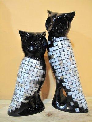 貓頭鷹貝殼典雅黑擺飾組,🌟最特別的禮物都在奧爾思🌟