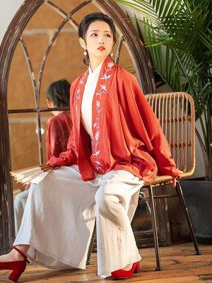 千錦直領對襟衫上衣單賣短衫外套繡花傳統日常秋季漢服女 禧禧#平價時尚