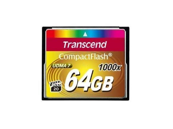 【eWhat億華】Transcend 創見 1000x 極速CF記憶卡 64G 公司貨【4】