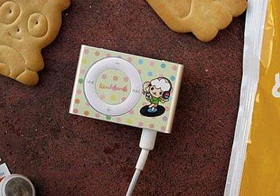*YOOWO*特賣【韓國空運 Lamb iPod Shuffle 2nd  專屬 時尚保護貼 ~ 羊咩咩 DJ】不留膠痕