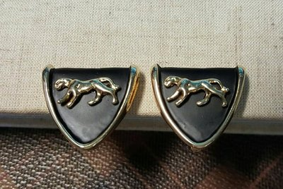 【觀天下‧收藏天地】早期約1970年代《盾形耳夾一對》....40多年了 (((199起標 運費可合併..)))-3