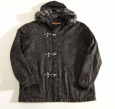 香港製 JOVI DEGREES 深灰 黑色 連帽棉質迷彩夾克外套 L號