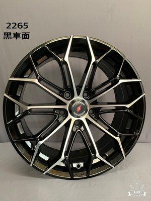 CR輪業 全新 北德文 2265 17吋鋁圈 黑車面 5X114 5X100 5X108