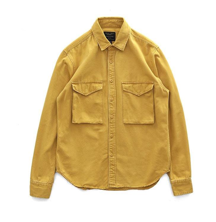 【NoComment】日系休閒 質感簡約 大口袋素面工裝襯衫 三色