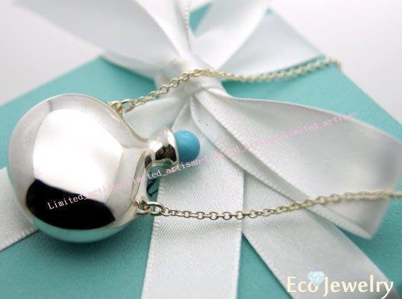 《Eco-jewelry》【Tiffany&Co】經典新款 大型藍水瓶項鍊 純銀925項鍊~專櫃真品已送洗