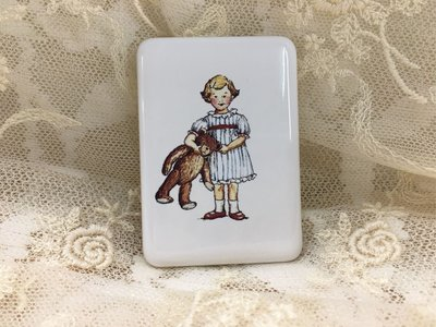 鄉村童話 Many 童趣 女孩 陶瓷 磁鐡 日本製