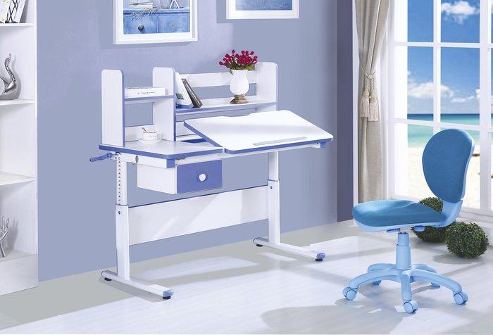 FA- 4尺升降電腦書桌-藍色/大台北區/衣櫃/系統家具/沙發/床墊/茶几/高低櫃/1元起/最低價/高品質