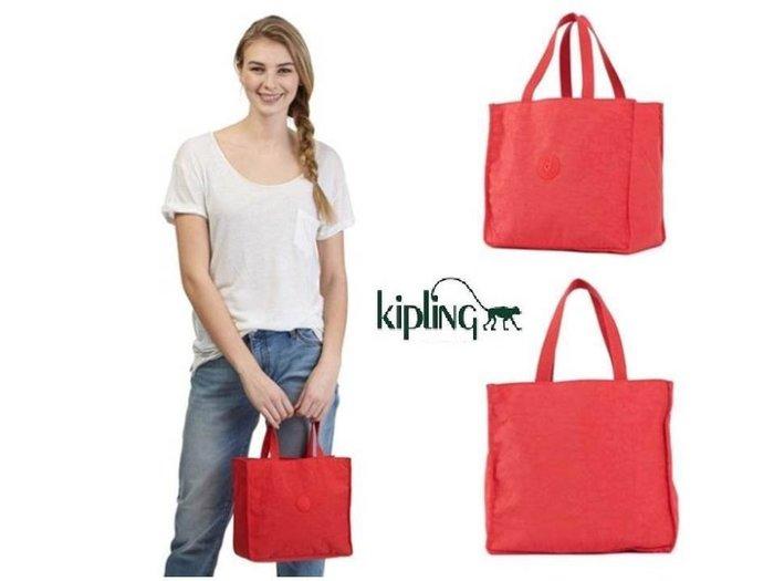 美國正品 KIPLING AC7810  LUNCHBAG 紅色小提袋