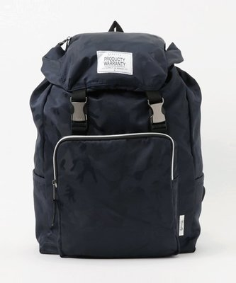【Mr.Japan】日本限定 PRODUCTY WARRANTY 後背包 雙排扣 中性 包 側邊拉鍊 藍迷彩 預購款