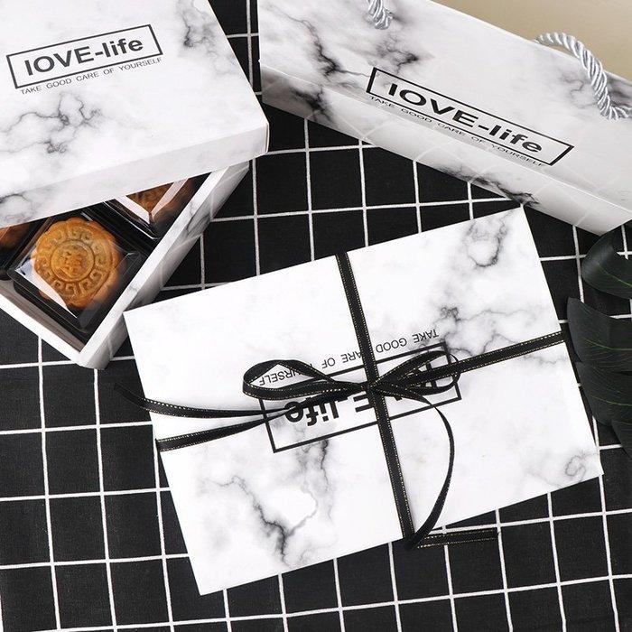 888利是鋪-63-80克大理石紋包裝盒 蛋黃酥雪媚娘綠豆糕盒中秋月餅盒餅干盒(5個裝)