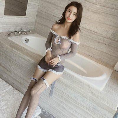 情趣內衣清純情趣內衣性感透視女仆制服夜店露乳激情套裝用品極度誘惑sm騷