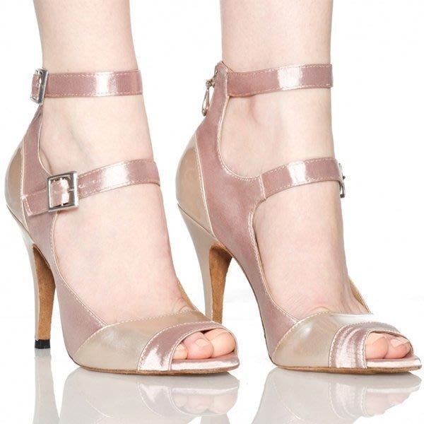 5Cgo【鴿樓】會員有優惠 25815576440  女成人拉丁舞鞋高跟中跟舞蹈鞋交誼舞廣場舞中跟涼鞋 跟高7/8公分