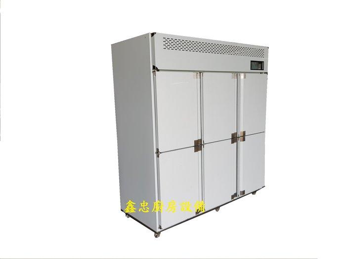 鑫忠廚房設備-餐飲設備:手工系列六門立式冷凍櫃-六門麵團冰箱-賣場有西餐爐-烤箱-攪拌機-發酵箱