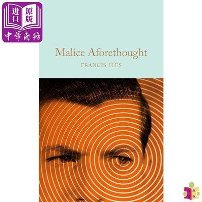 [文閲原版]Collectors Library系列:預謀 英文原版 Malice Aforethought 犯罪小說 Francis Iles