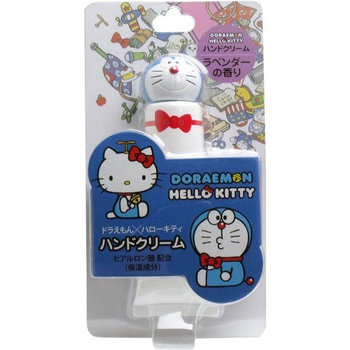 護手霜 哆啦A夢 x Hello Kitty 聯名 護手霜 30g 薰衣草味 日本進口 正版授權 JustGirl