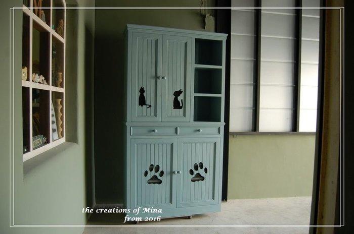 米娜天然直感手作-貓の衣鞋櫃 實用的玄關櫃衣櫃.鞋櫃併合 天然直感手作家具