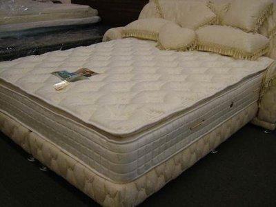 ※高雄~專業睡眠館※活性碳頂級英國天然乳膠3線護背獨立筒床墊 加大6尺~雙ISO認證(市價3成)B