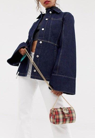 朵拉媽咪【全新現貨】英國 ASOS 經典格紋 格子 長鏈 斜背包 單肩包 約會包 小包