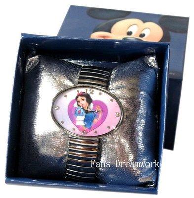 【卡漫迷】 白雪公主 手錶 ㊣版 伸縮式 女錶 迪士尼 公主 系列 Snow White ~ 卡通錶 出清價 299元