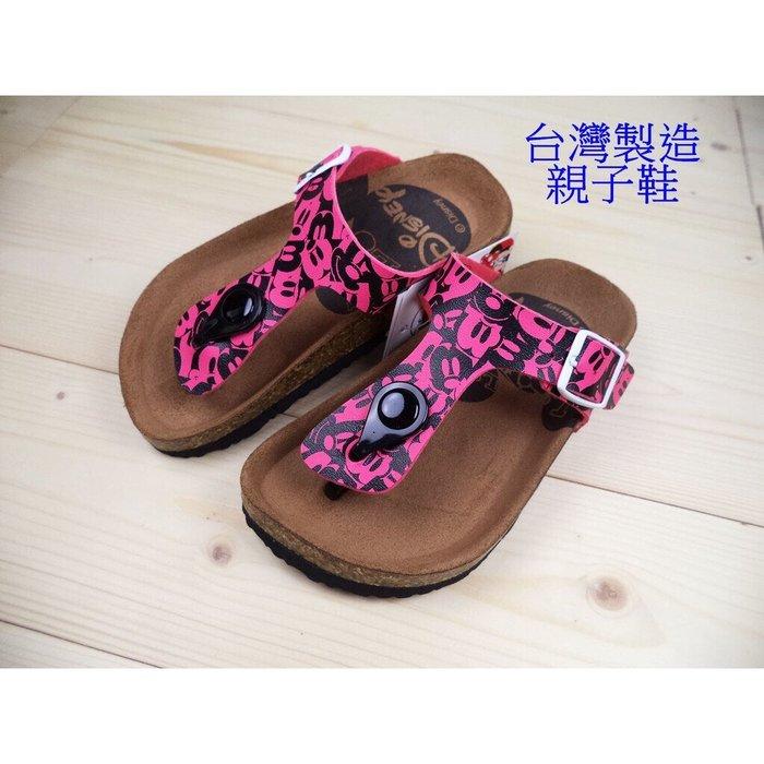 親子鞋..寶貝-正版Disney迪士尼米奇滿版夾腳拖鞋(464749)桃色16-21號