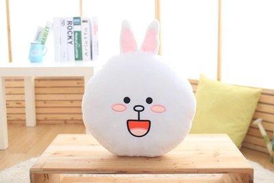 妮可兔兔微笑款暖手抱枕午安枕靠墊坐墊